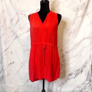 Lulu's Red Orange Mini Dress